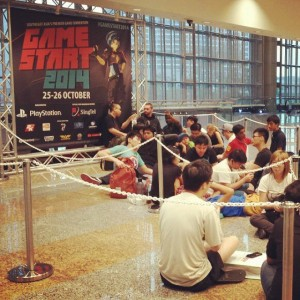 Day 2: The Capcom Pro Tour Asia Finals and more! We're open from 11am to 9pm! #GameStart2014 #StreetFighter #Capcom #Gaming