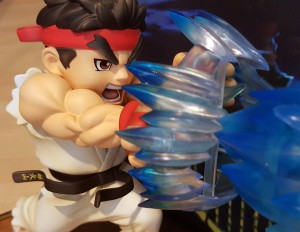 Close-up view of Ryu's paint work