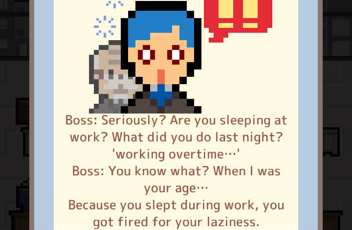 Your boss caught you sleeping!