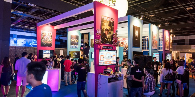Games Solution Centre's booth