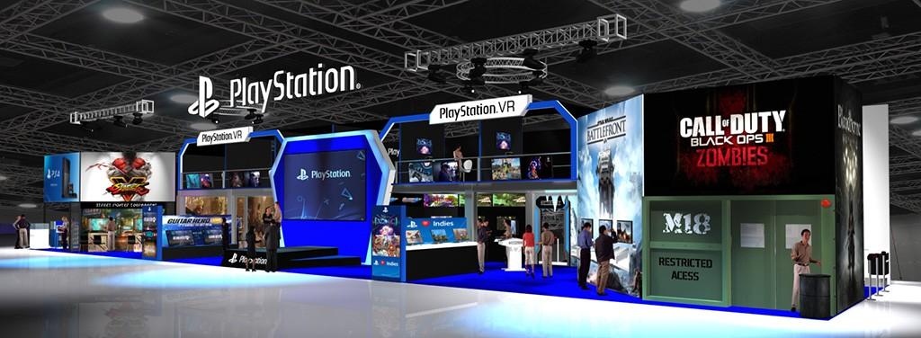PlayStation's booth at GameStart 2015