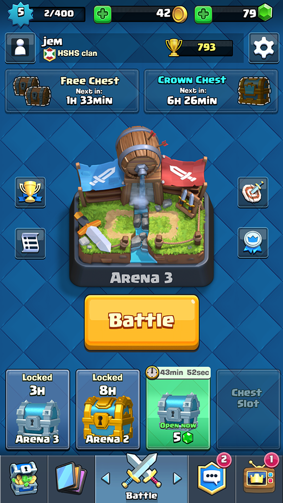can download Clash Royale from Google Play and the App Store for free ...