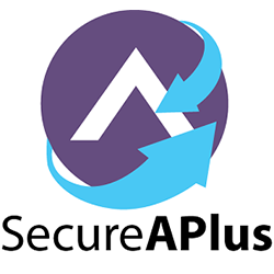 SecureAPlus Logo Black Word (Logo Top)