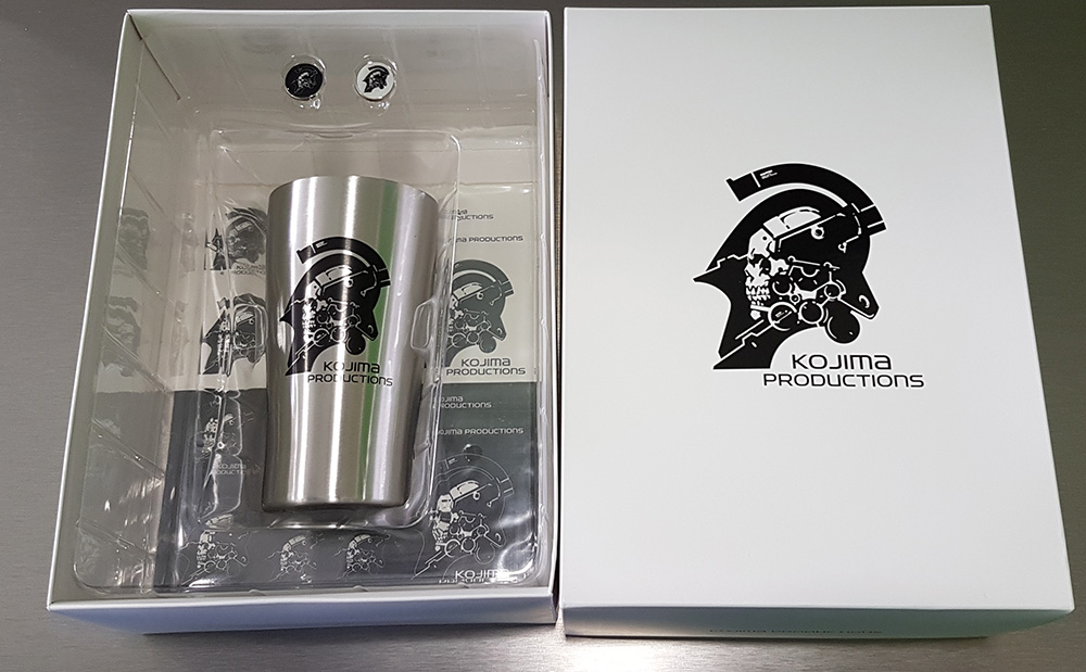 Kojima Productions Steel Tumbler + Pins + Stickers