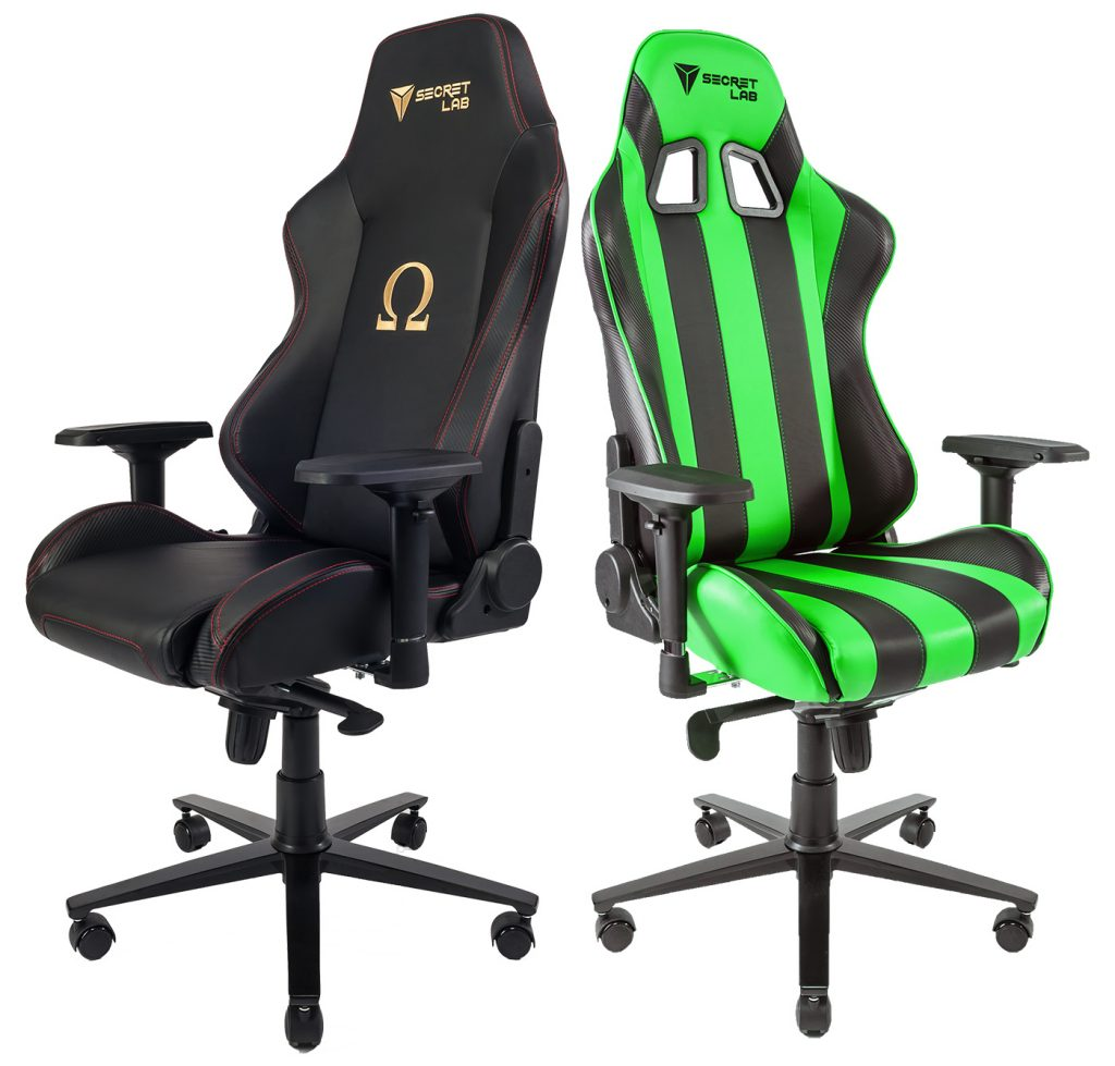 Left: Secretlab Omega, Right: Secretlab Throne V2